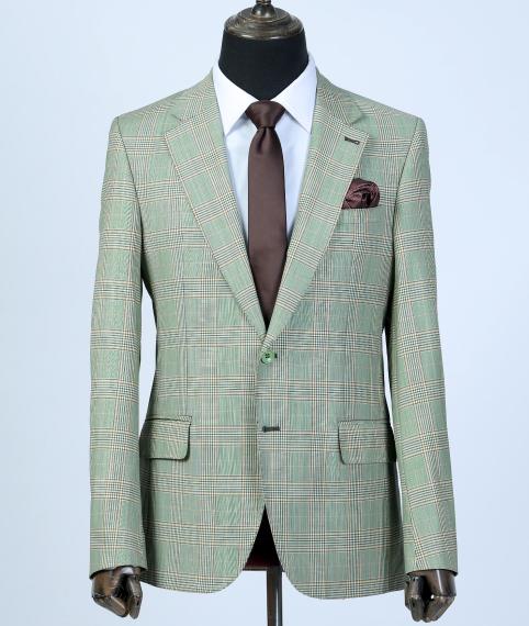 کت تک چهارخانه سبز