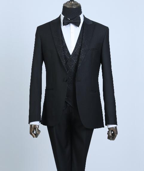 کت و شلوار با ژیله و کراوات مردانه زاگرس