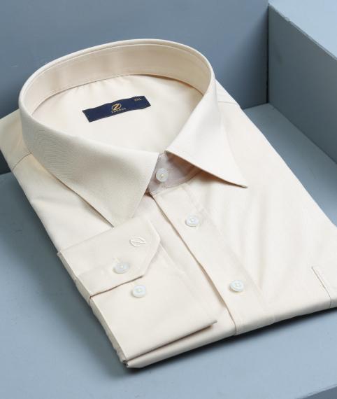پیراهن مردانه کرمی