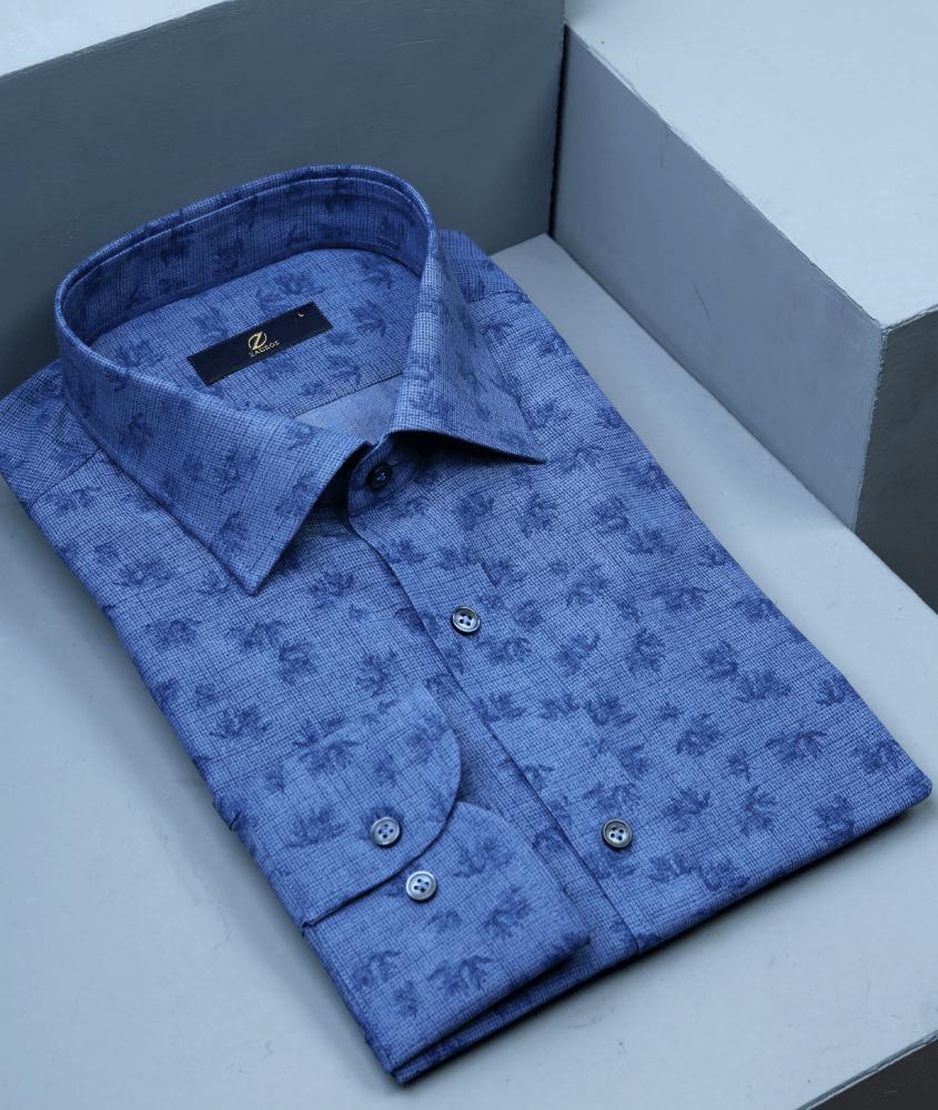 پیراهن مردانه آبی تیره