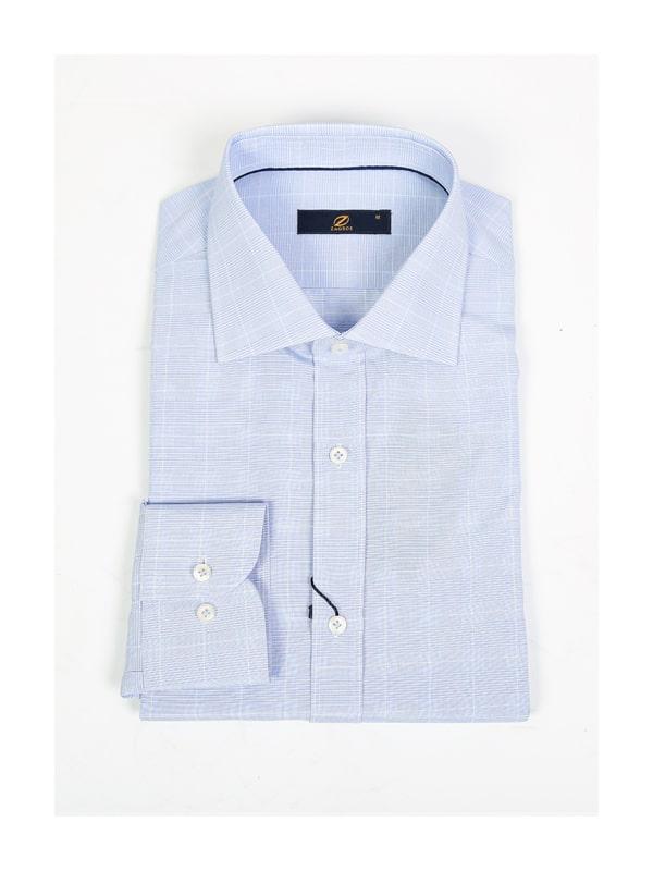 پیراهن چهارخانه آبی