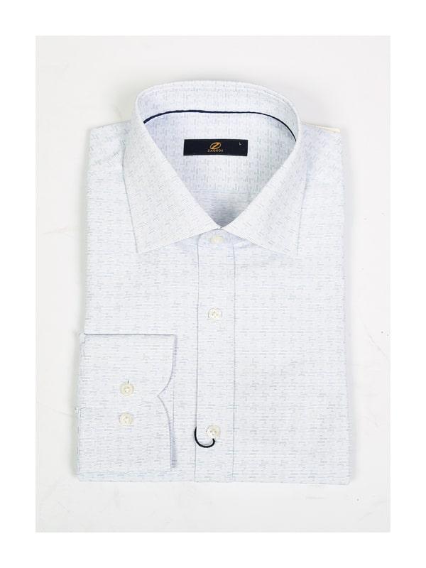 پیراهن سفید طرحدار