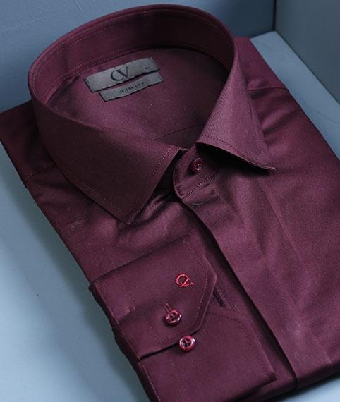 پیراهن زرشکی مردانه