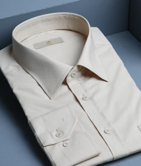 پیراهن آستین بلند کرمی