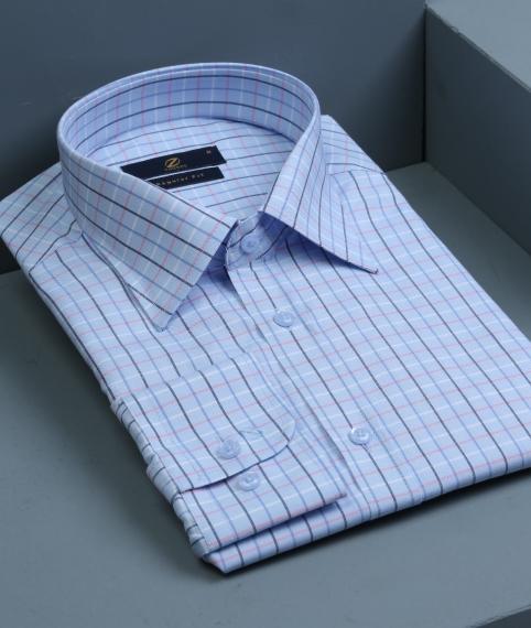 پیراهن آبی چهارخانه
