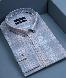 پیراهن چهارخانه طوسی