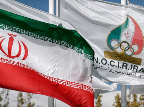 حضور کاروان المپیک با لباس رسمی در مراسم بدرقه