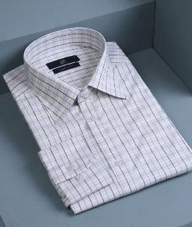 پیراهن چهارخانه کرمی
