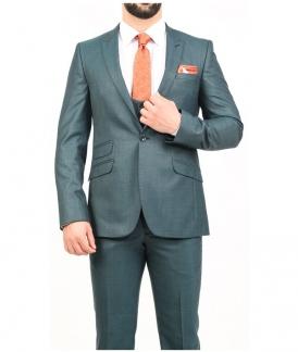 کت و شلوار سبز ساده